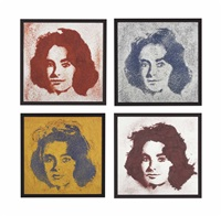 liz (from pictures of cayenne, black pepper, curry, chili pepper) (in 4 parts) (in 4 parts) by vik muniz