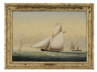 schooner at full sail by john white allen scott