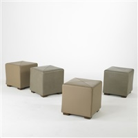 quattro stools (set of 4) by american leather inc.