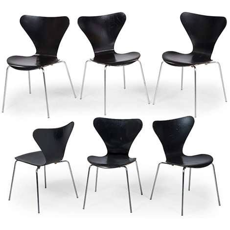 Series 7 Stacking Chairs By Arne Jacobsen On Artnet