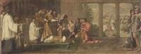 papa silvestro battezza costantino by andrea camassei