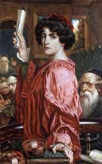 portia, in the merchant of venice by g.w. smetham-jones