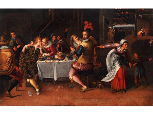 festmahl im interieur by hieronymus francken iii