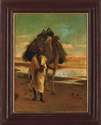 a bedouin with a camel by addison thomas millar