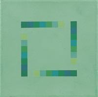 geometrische komposition in grün by jakob bill