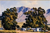 cottages at slanghoek by ted (tjeerd adriaanus johannes) hoefsloot
