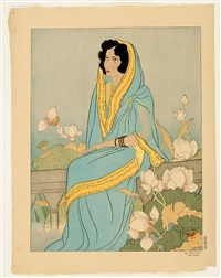 #68 the indian poetess by paul jacoulet