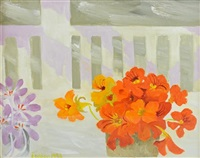 nasturtiums still life by mary fedden
