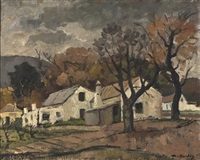 labourers cottages by piet (pieter gerhardus) van heerden