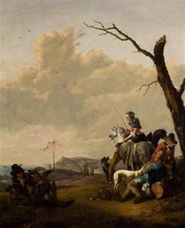 descanso de la caza by johannes lingelbach