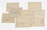 mountain views (8 works) by benjamin champney