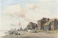 the quay at bosham, west sussex by arthur gerald ackermann