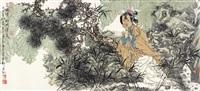 含娇倚松听清泉 by xu huiquan