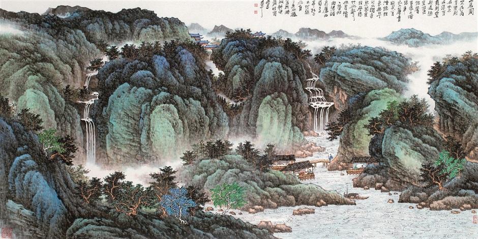 山居图 by xi lequn