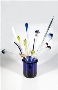 vase mit blumenstrauß by miluse kytova roubickova