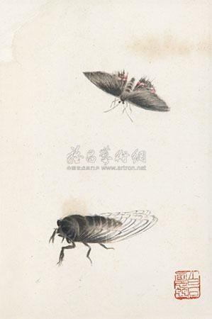 工笔草虫 by qi baishi