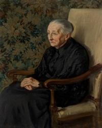 retrato de anciana by jesus corredoira