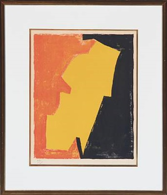 composition rouge jaune et noire by serge poliakoff