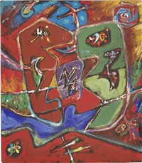 les grandes larves by andré masson