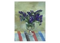 purple flowers by kan irie