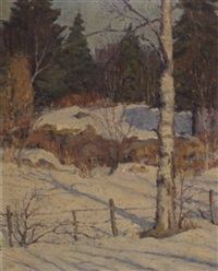 winter in maine by john nichols haapanen