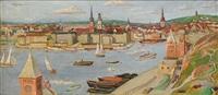 panorama över stockholm från söders höjder by olof (olle) agren