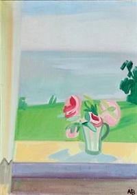 flowers on the window sill by axel bentzen