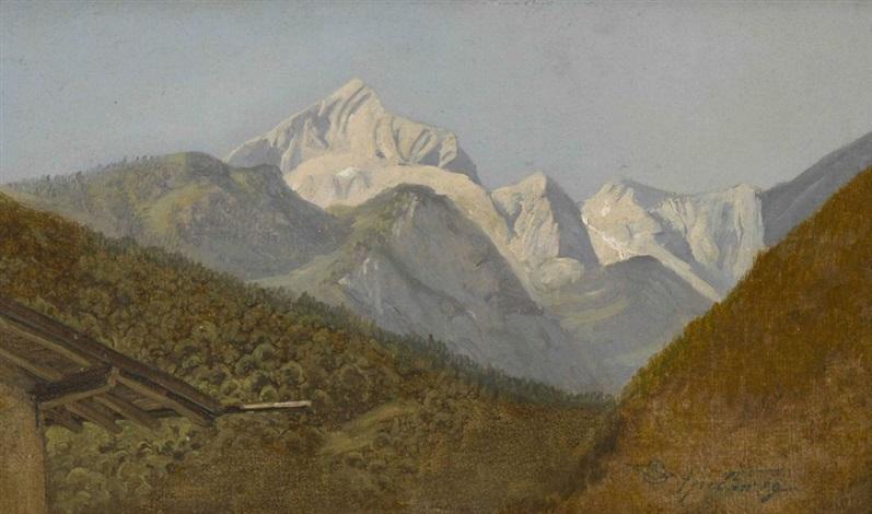 blick auf die alpspitze bei garmisch by carl spitzweg