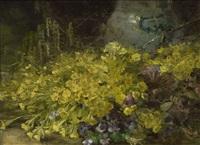 blumenstück mit schlüsselblumen by emmy lischke