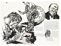 untitled (hoover's own dna) by raymond pettibon