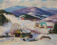 vermont winter landscape by robert shaw wesson