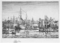 waterfront, new york by charles a. van der hoof