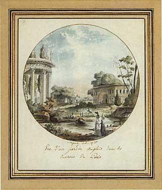 vue dun jardin anglais dans les environs de paris by antoine louis françois sergent marceau