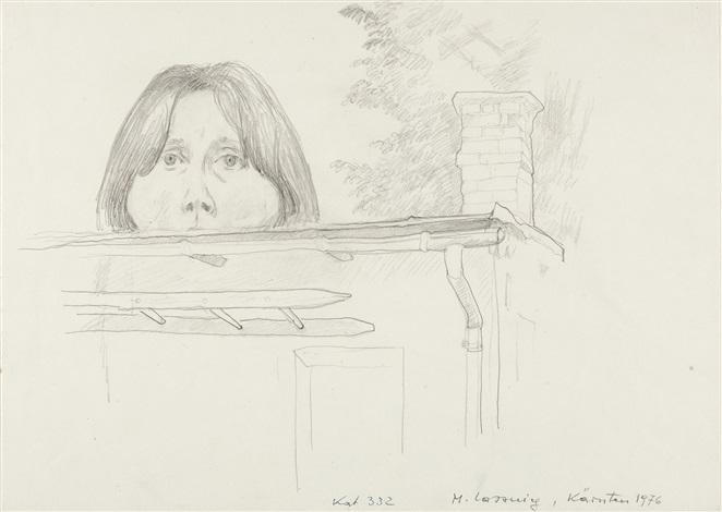 selbstporträt by maria lassnig