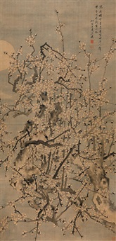 plum blossoms on a moonlit night by wang shangling