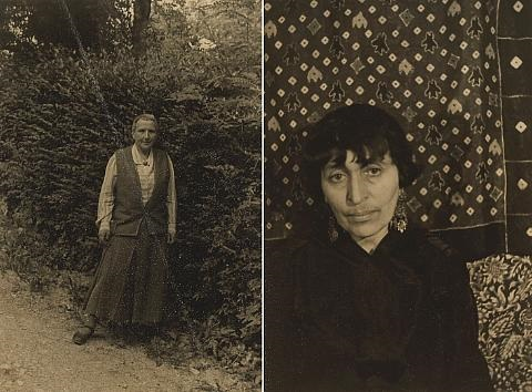 gertrude stein at les charmettes (+ alice b. toklas; 2 works) by carl van vechten
