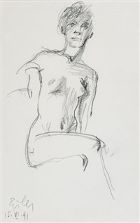 figure study by georg eisler