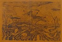 la guerre (from les horreurs de la guerre) by henri rousseau