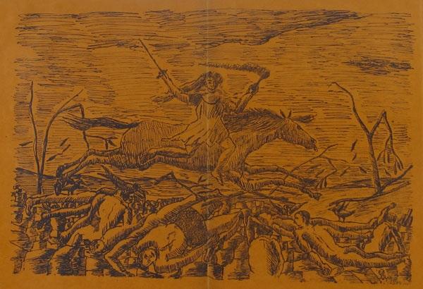 la guerre from les horreurs de la guerre by henri rousseau