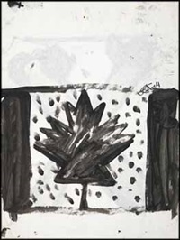 canadian flag (recto) / x (verso) by john scott