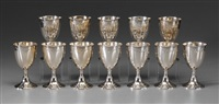 goblets (set of 12) by r. wallace & sons (co.)