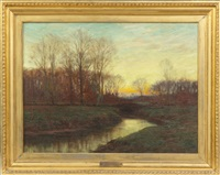 sunset landscape by william merritt post