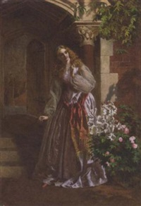 awaiting her lover's return by william maw egley