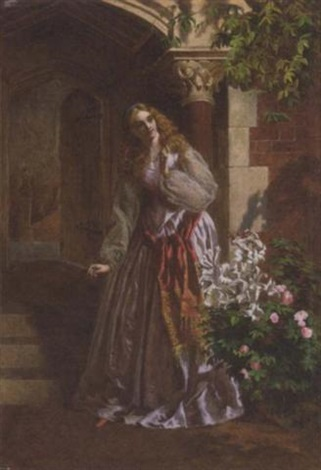 awaiting her lovers return by william maw egley