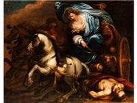 mythologische szenerie mit einer herrscherin mit krone und zepter by anonymous-italian-genoa (17)