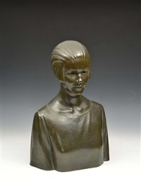 portrait bust of a lady by edwin whitney smith