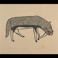 spotted wolf by harold qarliksaq