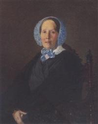 portrait einer moskauer dame by sergej konstantinowitsch sarjanko