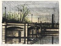 paris, le pont de la concorde by bernard buffet