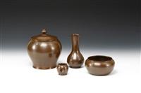 vase (+ 3 others; 4 works) by sotatsu ichinose